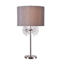 Kenroy Lighting 35261BS Katelyn 29 inch Brushed Steel Table Lamp Portable Light