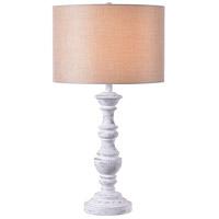 Kenroy Lighting 35273CHLK Georgia 20 inch Chalk White Table Lamp Portable Light