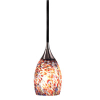 Medici 1 Light 4 inch Brushed Steel Mini Pendant Ceiling Light in Confetti Blown Glass