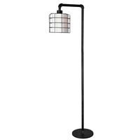 Kenroy Lighting 32774BRZG Alcatraz 10 inch Bronze Graphite Floor Lamp Portable Light
