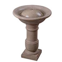 Kenroy Lighting Apollo Outdoor Birdbath Fountain in Coquina 50019COQN
