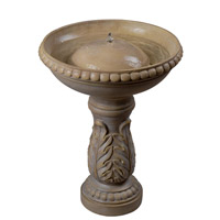 Kenroy Lighting Acanthus Outdoor Birdbath Fountain in Sandstone 50020SS