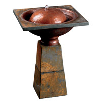 Kenroy Lighting Cauldron Outdoor Birdbath Fountain in Slate 50021SL