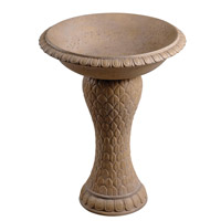 Kenroy Lighting Dara Birdbath in Sandstone 50022SS
