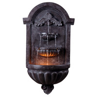Kenroy Lighting San Marco 1 Light Indoor or Outdoor Floor Fountain in Plum Bronze 50024PLBZ