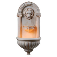 Kenroy Lighting 50026SS Regal Sandstone Indoor/Outdoor Wall Fountain