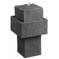 Kenroy Lighting Bolster 4 Light Outdoor Solar Floor Fountain in Concrete 50027CON