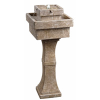 Kenroy Lighting Cadet 4 Light Outdoor Solar Floor Fountain in Sandstone 50029SS