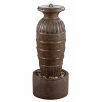 Kenroy Lighting Ernesto Outdoor Floor Fountain in Tuscan Earth 50039TE