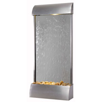 Waterville 0.2 watt Stainless Steel/Mirrored Face Indoor/Outdoor Floor Fountain