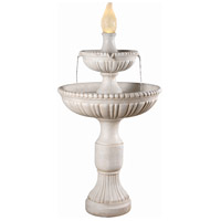 Liberty Roman White Outdoor Floor Fountain Home Decor