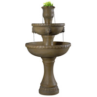 Lyon Dark Travertine Outdoor Floor Fountain Home Decor