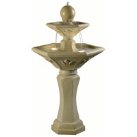 Provence Dark Travertine Outdoor Fountain Home Decor, Solar