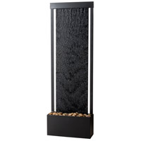 Glissade Black Floor Fountain Home Decor