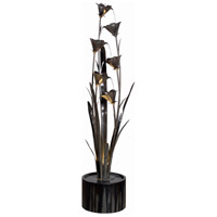 Lily 0.125 watt Blue Bronze Indoor/Outdoor Floor Fountain