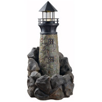 Lighthouse Wood Grain Outdoor Floor Fountain Home Decor