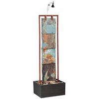 Kenroy Lighting Montpelier 1 Light Floor Fountain in Natural Slate wtih Copper   50151COP