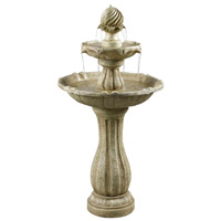 Arcade Sandstone Outdoor Floor Fountain Home Decor, Solar