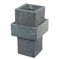 Kenroy Lighting Cubic 4 Light Outdoor Floor Fountain in Concrete   50195CON photo thumbnail