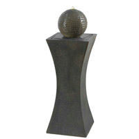 Kenroy Lighting Cannonade 4 Light Outdoor Floor Fountain in Smoked Granite   50198SMG