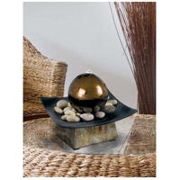 Kenroy Lighting 50235SL Sphere Natural Green Slate/Copper Table Fountain Home Decor alternative photo thumbnail