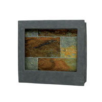 Kenroy Lighting 50236SL Eagle Square Natural Slate Square Indoor Wall Fountain photo thumbnail