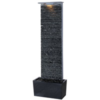 Kenroy Lighting Bedrock Falls 1 Light Floor Fountain in Natural Grey Slate   50252GYSL