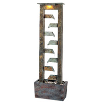 Kenroy Lighting Aqueduct 2 Light Floor Fountain in Natural Slate   50254SL