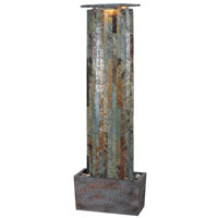 Kenroy Lighting Waterwall 2 Light Floor Fountain in Natural Slate   50255SL