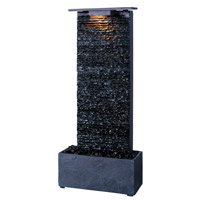 Bedrock Falls Natural Gray Slate Table/Wall Fountain Home Decor