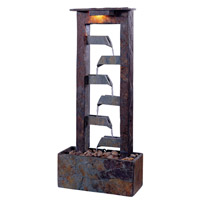 Kenroy Lighting Aqueduct 1 Light Table Fountain in Natural Slate   50284SL