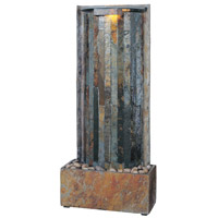 Kenroy Lighting Waterwall 1 Light Table/Wall Fountain in Natural Slate   50285SL