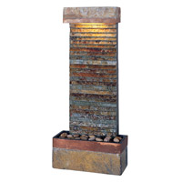 Kenroy Lighting Tacora Horizontal 1 Light Fountain in Natural Slate  with Copper Accents  50290SLCOP