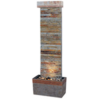 Kenroy Lighting Tacora Horizontal 1 Light Floor Fountain in Natural Slate  with Copper Accents  50293SLCOP