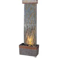 Kenroy Lighting Tacora Vertical 1 Light Floor Fountain in Natural Slate  with Copper Accents  50294SLCOP