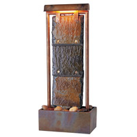 Kenroy Lighting Montpelier 2 Light Table Fountain in Natural Slate with Copper   50301COP photo thumbnail