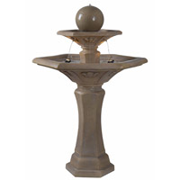 Kenroy Lighting Provence 2 Light Outdoor Floor Fountain in Dark Travertine   50325DT