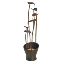 Kenroy Lighting Leaves 1 Light Floor Fountain in Aged Copper Bronze   50332ACB