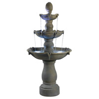 Kenroy Lighting Sherwood 4 Light Outdoor Floor Fountain in Dusty Travertine   50333DT