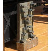 Kenroy Lighting Watercross 1 Light Floor Fountain in Natural Green Slate   50375SL photo thumbnail