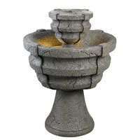 Kenroy Lighting Lucca Weathered Stone Finish Decorative Items 50610WS photo thumbnail