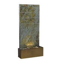 Kenroy Lighting Brook 1 Light Floor/Wall Fountain in Natural Slate   50621SL