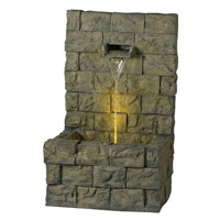 Kenroy Lighting Garden Wall 1  Light Outdoor Floor Fountain in Concrete   51001CON