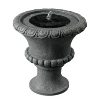 Kenroy Lighting Solar Urn Fountain in Concrete   51002CON