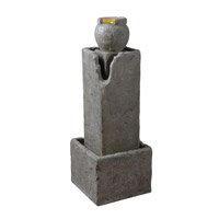 Kenroy Lighting Eon 6 Light Indoor or Outdoor Floor Fountain in Weathered Stone 51006WS