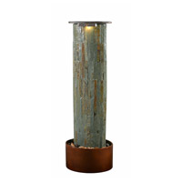 Kenroy Lighting 51019SLCOP Rainfall Natural Slate and Natural Copper Floor Fountain