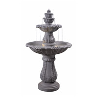 Kenroy Lighting 51022CON Florentine Concrete Floor Fountain