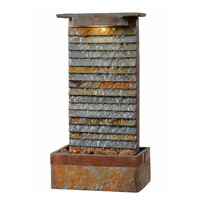 Stave Natural Slate and Natural Copper Table Fountain