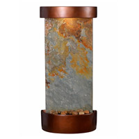 Kenroy Lighting 51027SLCOP Riverbed Natural Slate and Natural Copper Wall Fountain