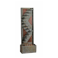 Journey Natural Slate and Natural Copper Floor Fountain